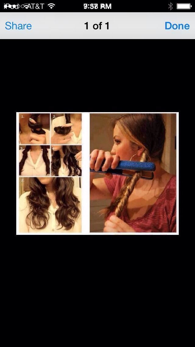 Running Late For School Or Work? Well Try This Cute And Quick Cheat Cheat To Curling Your Hair(;  #cheat #curling #quick #running #school