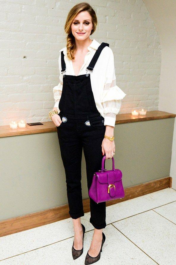 Celebrity Style Fashion Icon Olivia Palermo Purple Brilliant Delvaux Bag Celebrity Style