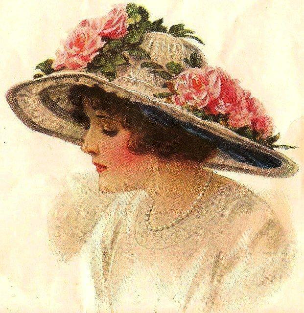вот, старые открытки шляпки знаете, как