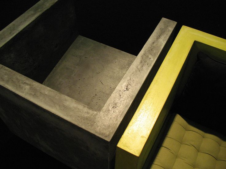 CUBE – Concrete chair - by matali crasset / Concrete by LCDA