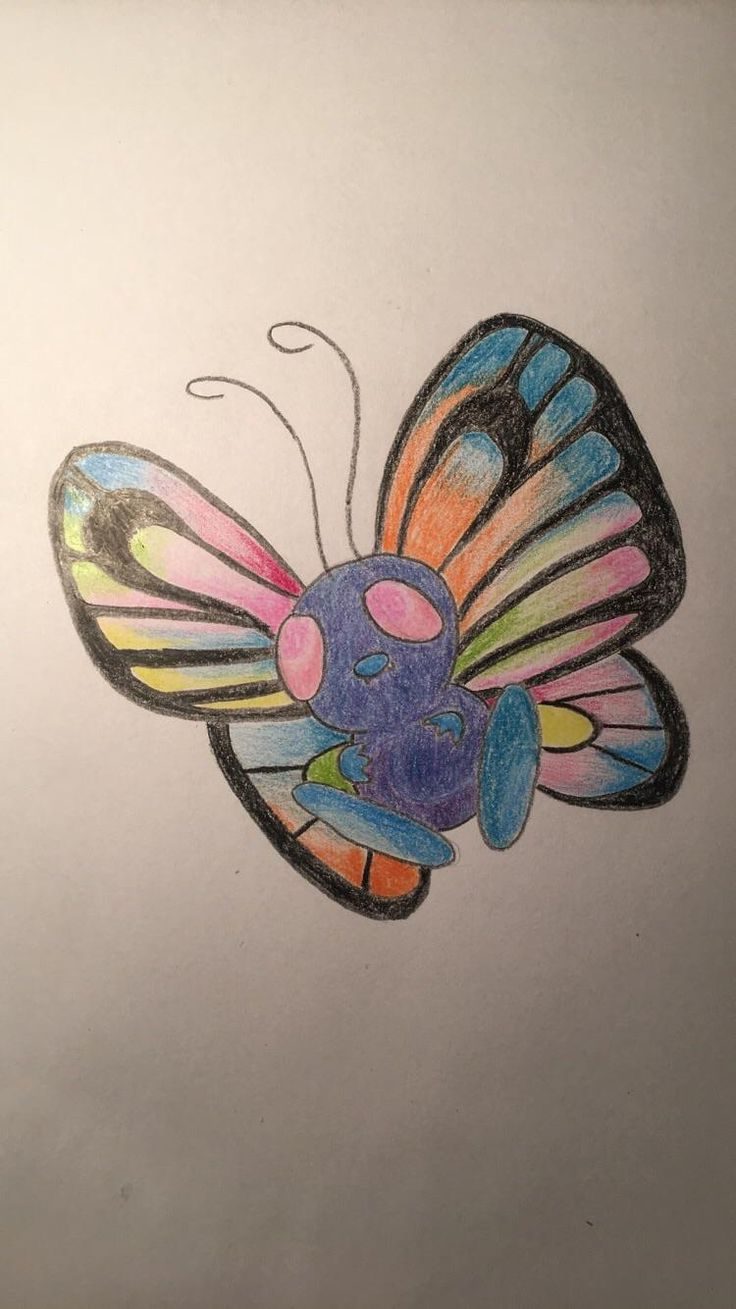 butterfree i drew for class color theory inspired