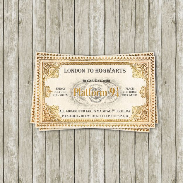 "Send out invitations that look like tickets to the Hogwarts Express. | 27 Magical Ways To Throw The Ultimate ""Harry Potter"" Party"