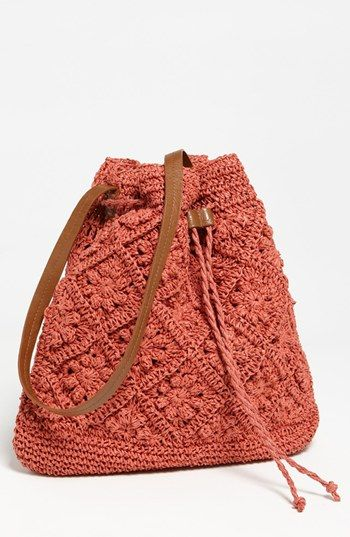 Straw Studios crochet tote - boho chic for Summer, but I prefer it in the beige version
