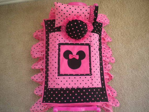 Minnie Mouse Doll Bedding for American Girl Doll or by MermaidBaby, $28.00