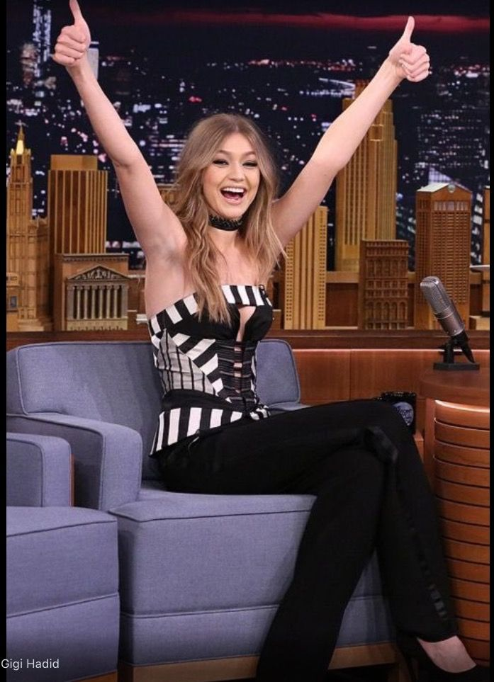 Gigi Hadid on The Tonight Show with Jimmy Fallon. Follow rickysturn/amazing-women