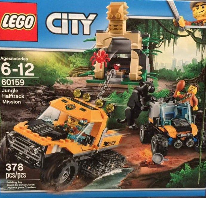 LEGO City 60159: Jungle Halftrack Mission. A City set released in 2017.