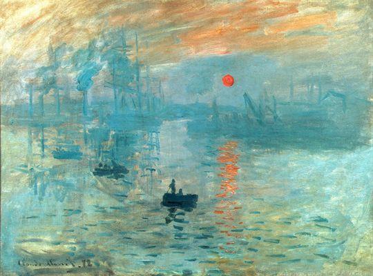 Monet:  Impression: Sunrise, 1872
