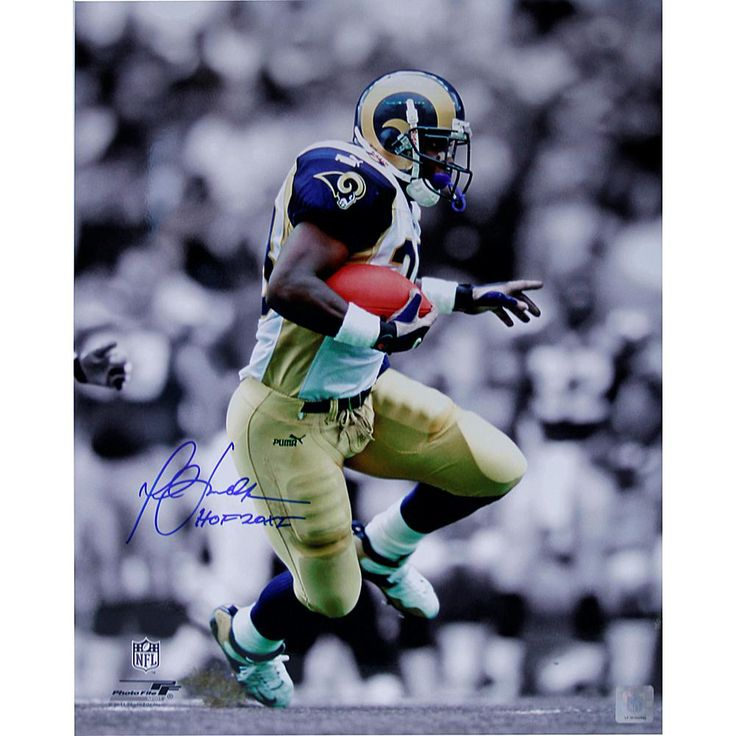 "Steiner Sports 8"" x 10"" Marshall Faulk Signed Photo with ""HOF 201I"" Inscription"