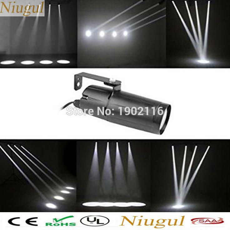 (White) 3W Led Pinspot Light Wash Narrow Beam Pinspot Lighting Mount Spotlight Projector for Dance Floor, Celebration,Party,KTV