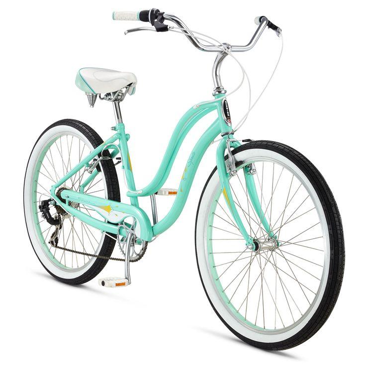 Schwinn Sprite Women's Beach Cruiser Bike in Light Blue- 2015 - Performance Bicycle