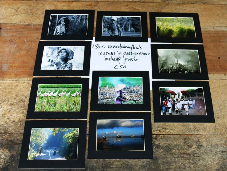 A collection most beautifull photos from the artist for only 50 euro - 10 pieces including send in an enveloppe to your house. For the USA  $ 60 usd.