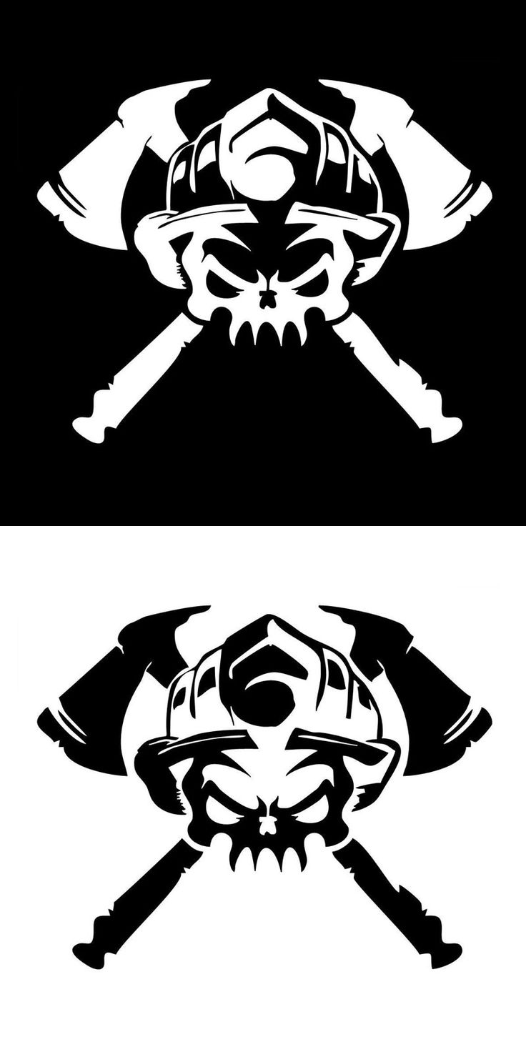 Motorcycle sticker Personalized Firefighter Skull Car Stickers Covering The Body Reflective Vinyl Decals Black/Silver