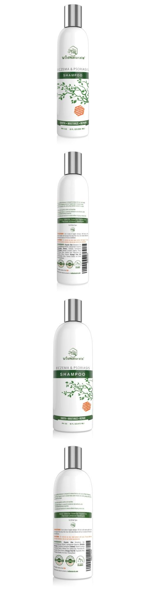 Medicated Hair Treatments: New Wild Naturals Eczema And Psoriasis Shampoo 8Oz 16Oz | Sooth Restore Your Hair -> BUY IT NOW ONLY: $99.95 on eBay!