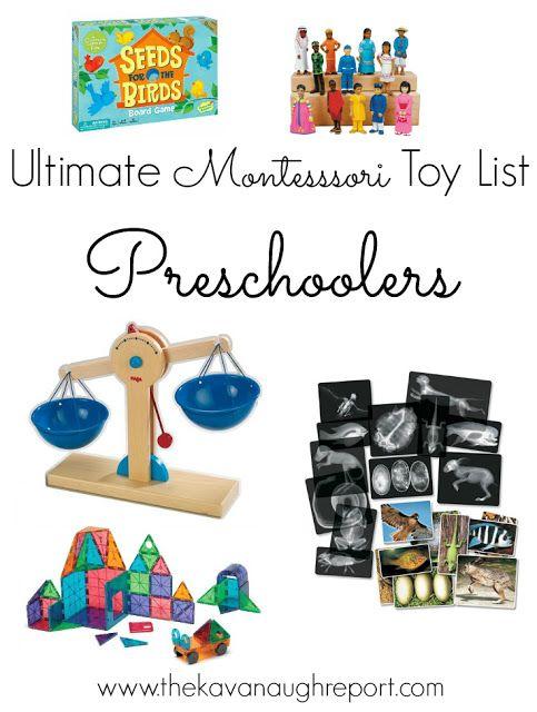 The Ultimate Montessori Toy List -- Birth to Five
