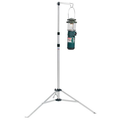 Have a place to hang your fuel or battery-powered lantern, even when there isn't a tree or post to be found, with the non-slip Coleman® Lantern Stand. This durable steel and aluminum stand with telescoping poles extends to more than 7 ft. When the fun is done, the collapsible stand packs up compactly in the included carry case.