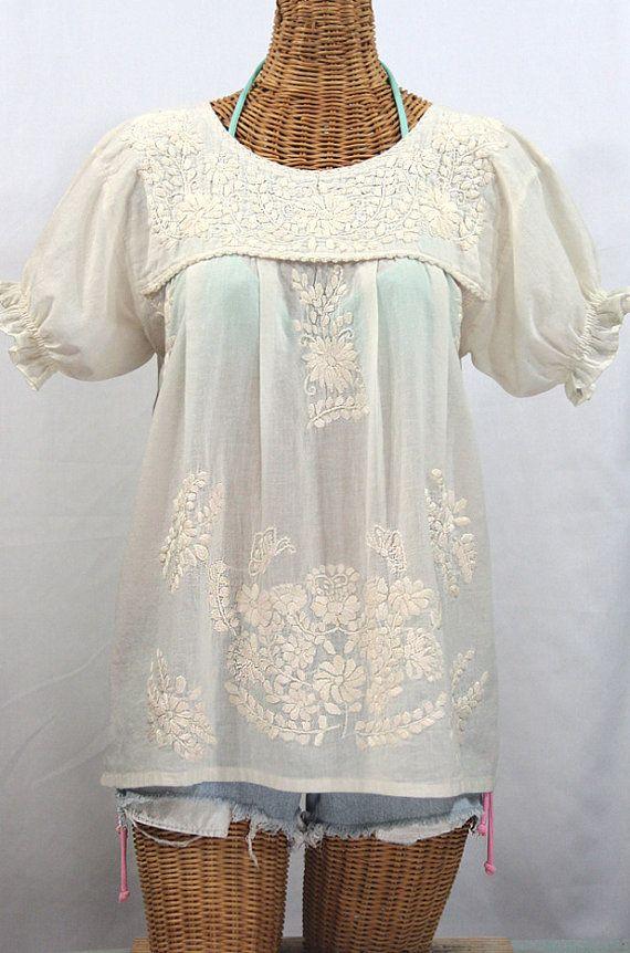 Bordado de la parte superior de la blusa campesina por Sirenology