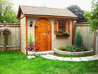6'x10' Palmerston Garden Shed Plans in Texas.