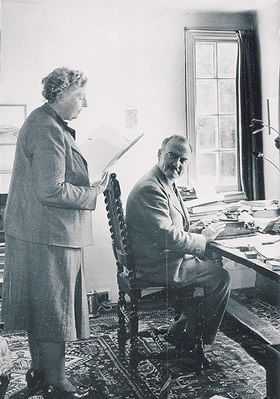 Agatha Christie reads to her husband, Max. This lady gave me many hours of feeling smart.