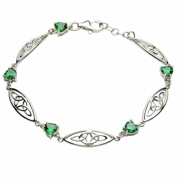 Best silver jewelry - Trinity Knot Necklace with Swarovski Crystals