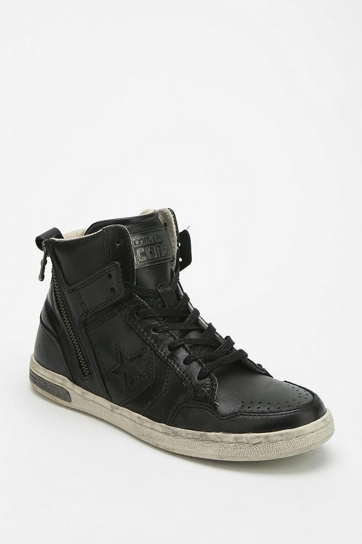890b41466df7 Converse X John Varvatos Weapon Leather Women s High-Top Sneaker   urbanoutfitters