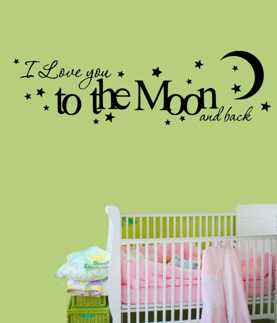 Vinyl Wall Decal I love you to the moon and back