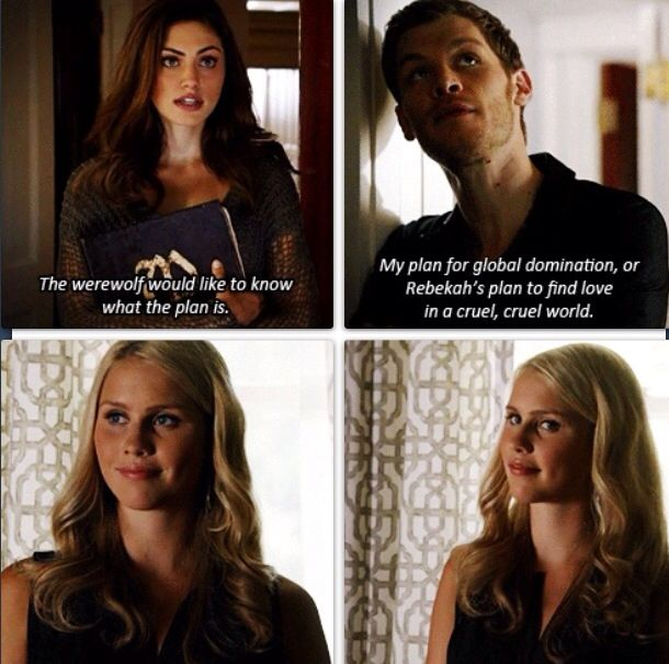 The originals - Hayley (Phoebe Tonkin), Klaus (Joseph Morgan), Rebekah (Claire Holt)