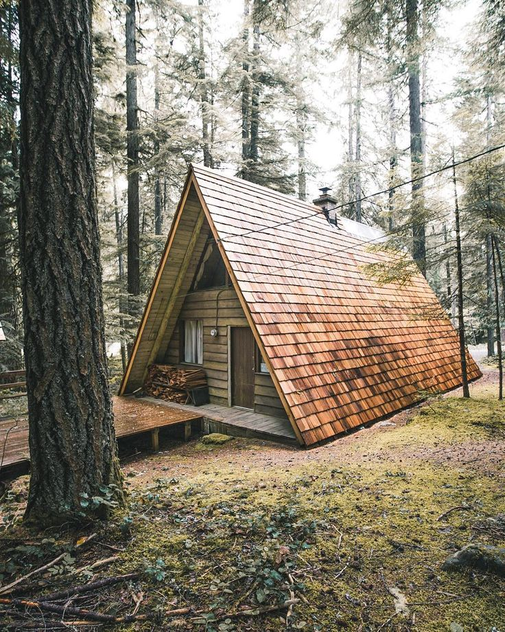 142 best a frame images on pinterest beach houses tiny for Diy a frame cabin