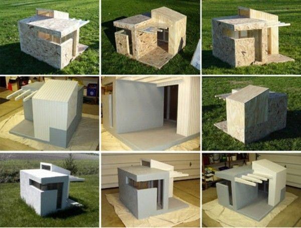 luxury dog house and bed of natural components