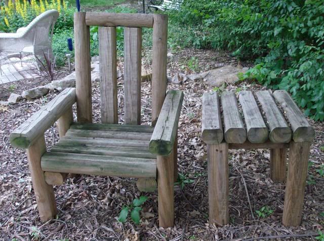 42 best landscape timber projects images on pinterest for Landscape timber bench