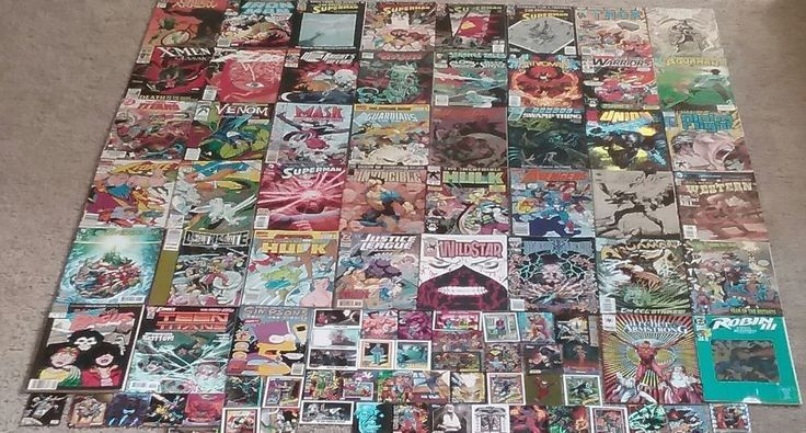 45 Comic Books plus 45 Cards Lot Superman Spawn Thor Flash Star Wars Venom Hulk