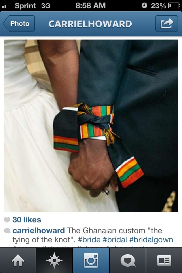 Adding this tradition to the wedding using my kente from Ghana.
