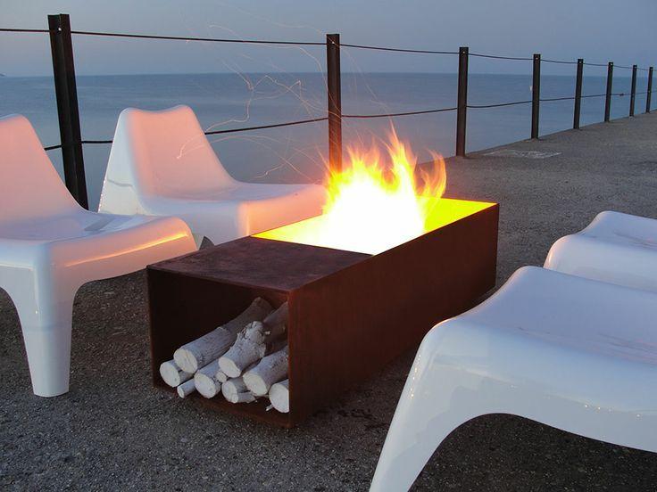 modern fire pits - Google Search