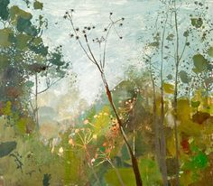Ruth Stage: Hedge Parsley in Gloucestershire Campden Gallery, fine art, Chipping Campden, camden gallery, contemporary, contemporary arts, contemporary art, artists, painting, sculpture, abstract painting, gloucestershire, cotswolds, painting for sale, artwork for sale, modern art gallery, art exhibitions,arts gallery, gallery art, art gallery UK