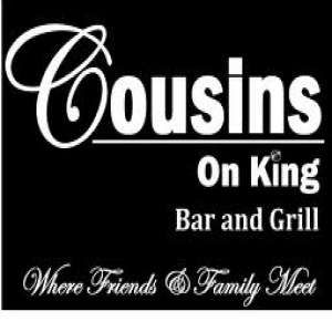Cousins on King- Where Friends and Family Meet! This restaurant is a great entertaining venue that invites food and entertainment lovers to come together. They often host local musicians on the patio and inside to provide a great dining and entertainment experience. Great lunch specials and friendly staff. Simply said, friendly pub atmosphere in a family friendly restaurant. Stop in to enjoy the entertainment and food!