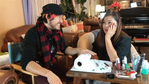 """notsosepticeye: """"Story time with momiplier while she's doing markiplier's nails and man oh man is this adorable. """""""