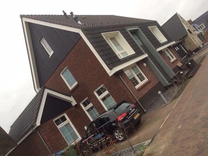 25 beste idee n over rode bakstenen huizen op pinterest rode baksteen exterieurs bakstenen - Huis architect hout ...