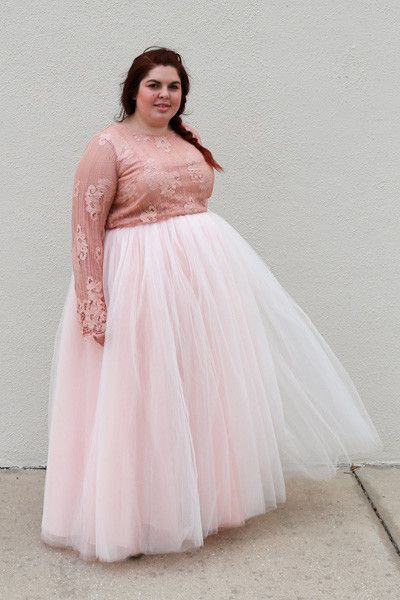 Plus Size Clothing for Women - Society+ Premium Tutu - Long Blush (Sizes 1X - 5X) - Society+ - Society Plus - Buy Online Now!
