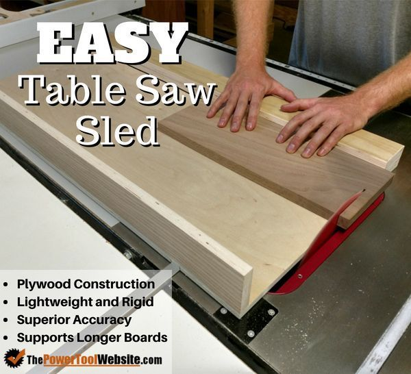 Table Saw Sled How To Build Your Own Free Tutorial With Pictures Table Saw Sled Table Saw Easy Woodworking Projects