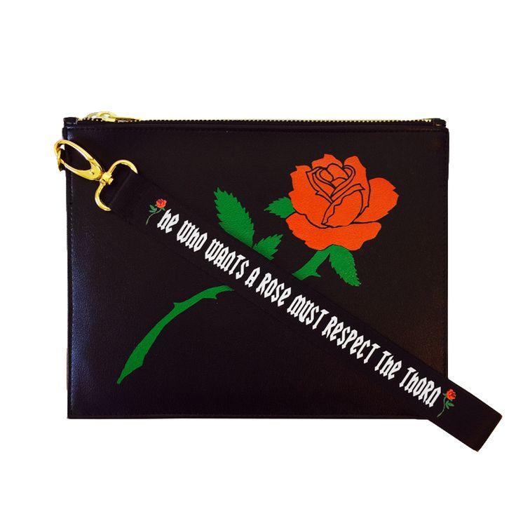 Respect Rose Clutch in Black   NYLON SHOP