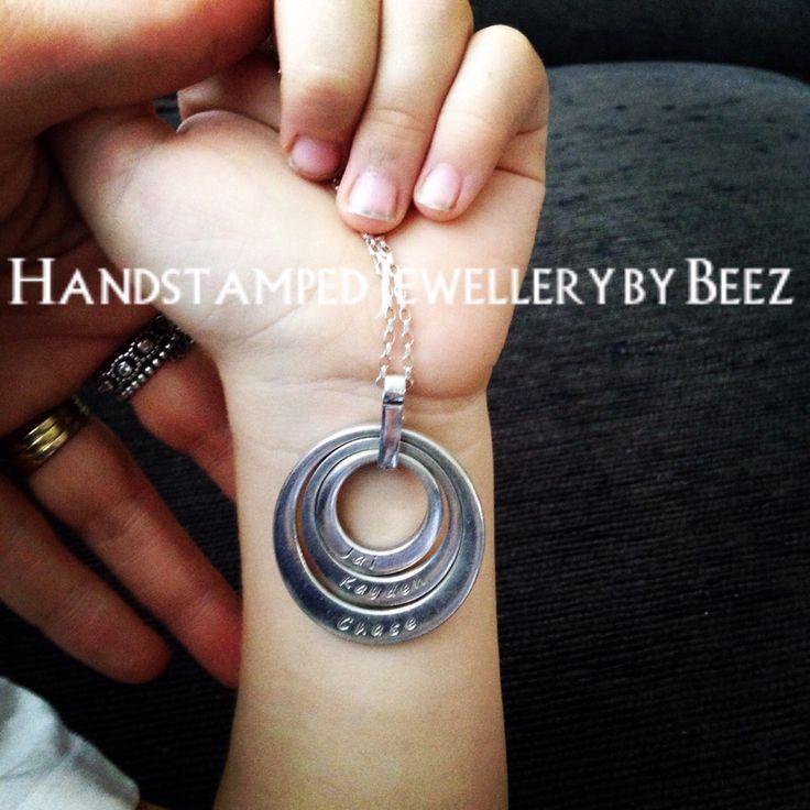 Handstamped jewellery by beez www.handstampedbybeez.com