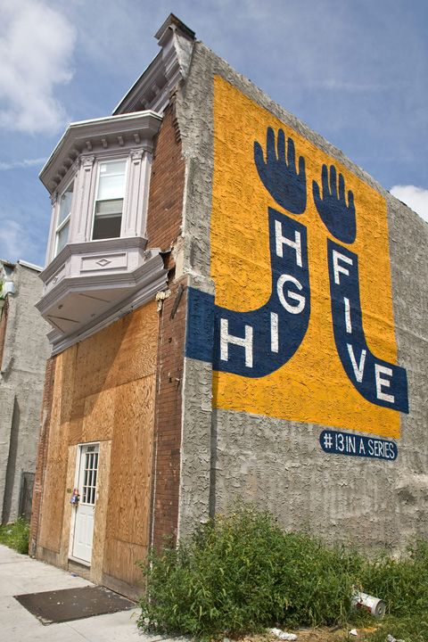"""love these murals - the """"Love Letters"""" project, part of the City of Philadelphia Mural Arts Program"""
