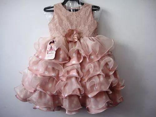 vestido infantil festa luxo 1037 - bambina fashion promoção!