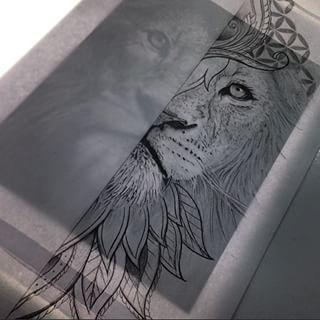 mandala lion black work - Google Search