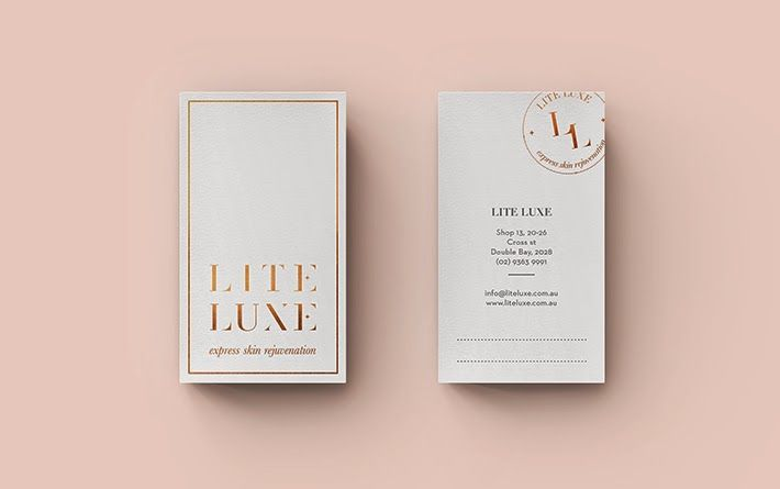 Good design makes me happy: Studio Love: Smack Bang Designs business cards. Gold foil