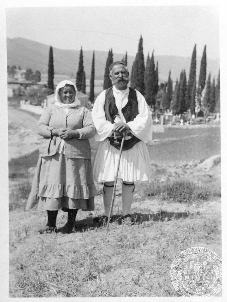 Poros. Greek peasants.1933