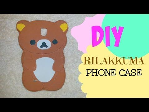 Diy rilakkuma phone case from scratch using foam sheets easy fun
