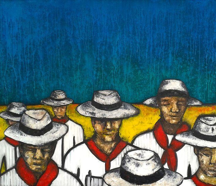 20 DE JULIO Oleo sobre lienzo Eduardo Galvis Cali-Colombia