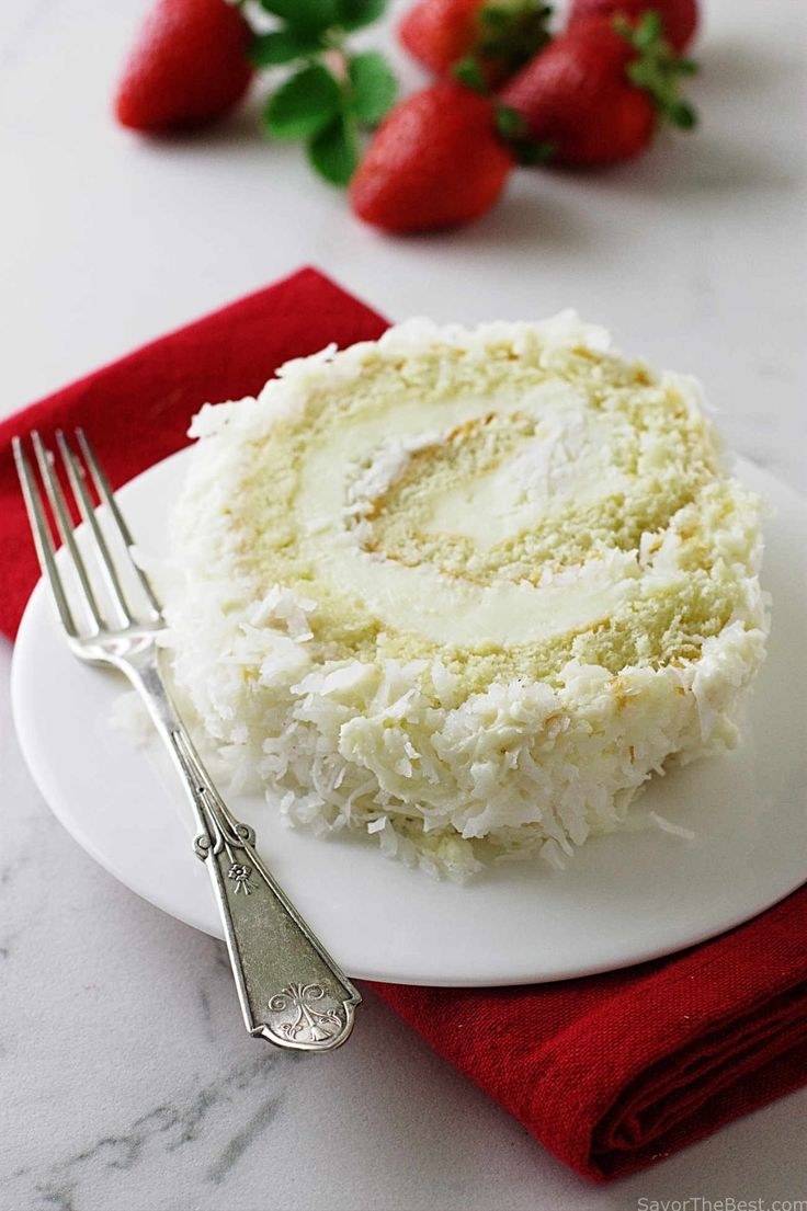 Coconut Cake Roll                                                                                                                                                                                 More