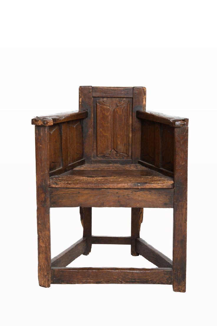 Ancient gothic furniture - Gothic Linenfold Chair Marhamchurch Antiques