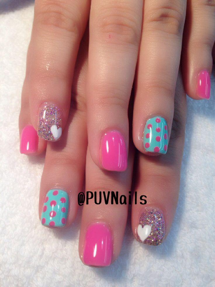 Turquesa y rosa Colores muy dulces y de moda